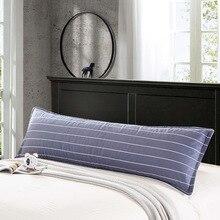 Tüm pamuk uzun yastık, çift yastık kılıfı, 1.2m1.5 metre, kalınlaşmış dimi baskı pamuklu klip, çift çift yastık kılıfı