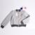 Mujeres básica abrigos chaqueta colorida bola de peluche cremallera de béisbol escudo puffer bola ice cream otoño 2016 mujeres clothing lj5792r