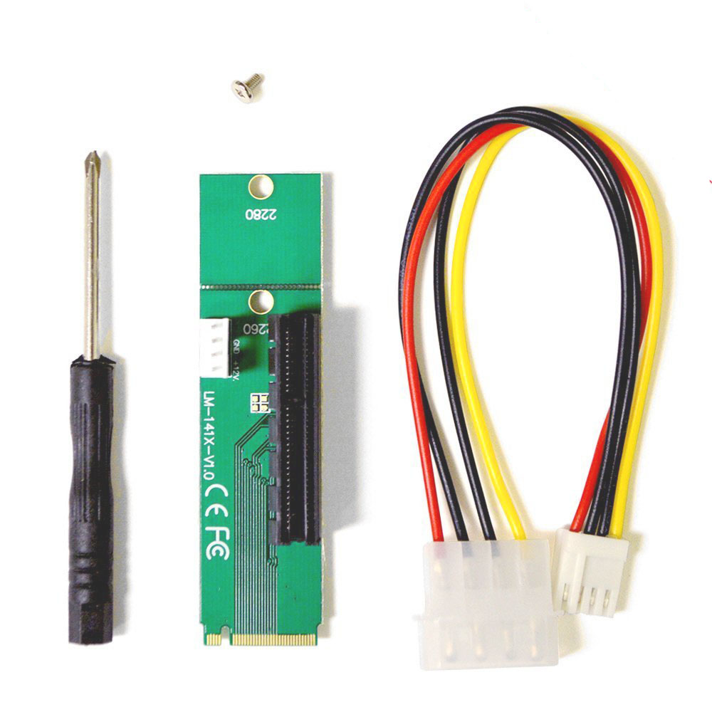 1 Pack NGFF To PCI-E Riser Card M.2 Port To PCIE Expansion Card NGFF To PCI-E X4 Slot Adapter For BTC Miner Mining Machine
