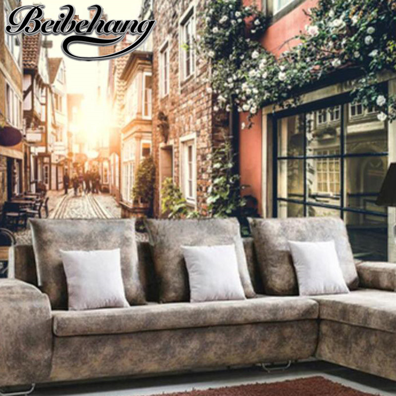 Beibehang Beibehang Custom Any Size 3D Wall Mural Wallpapers Beautiful  Scenery Garden Street Photo Wallpaper Murals Part 31