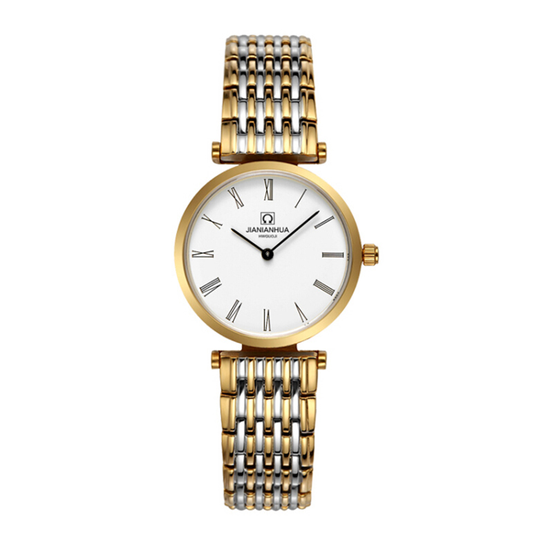 Фото Carnival Brand Quartz Watch Women Classic Retro Roman Numeral Dial Ultra Thin Full Stainless Steel Casual Lady Clock New