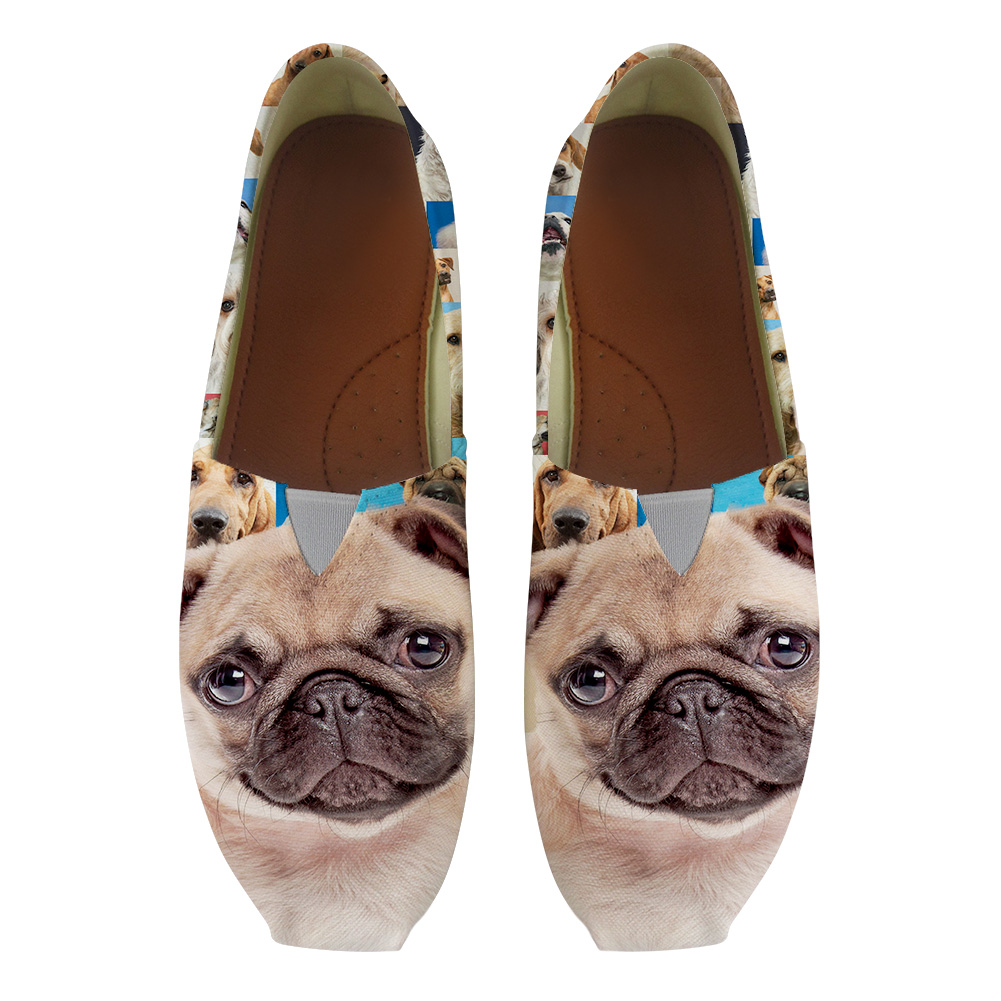 Women Flats Ladies Slip On Flat Loafers Shoes Casual Sneakers Boat Shoes Bulldog Moccains Women Vulcanize Footwear Nurse Work instantarts women flats emoji face smile pattern summer air mesh beach flat shoes for youth girls mujer casual light sneakers