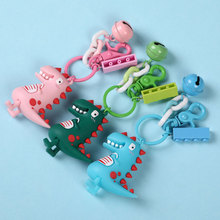 High Quality New Cute Dinosaur Key Chain  Fashion Cotton Stuffing Cartoon PU Keychain Creative Car Bag Phone Ring Gift