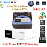 FREESAT gtmedia GTC Android 6.0 TV BOX DVB-S2/T2/Via Cavo/ISDBT Amlogic S905D 2GB di RAM 16GB di ROM freesat + 1 anno trasporto CCcam regalo