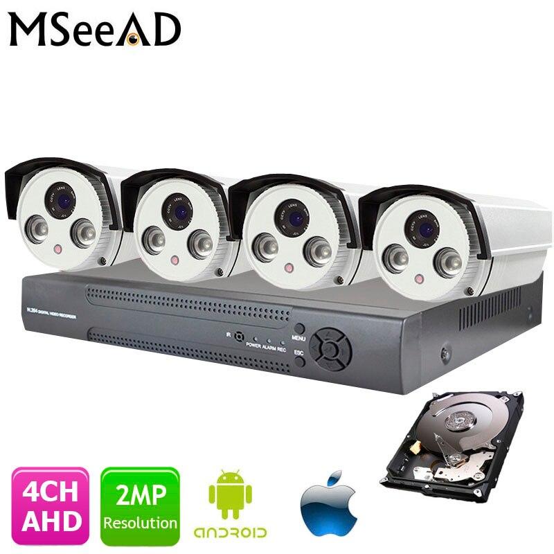 屋外 AHD 2MP CCTV カメラシステム 1080 1080P AHD DVR キット 4 チャンネル弾丸ホームセキュリティカメラデ seguridad IR デイ/ナイト 1 テラバイト HDD  グループ上の セキュリティ & プロテクション からの 監視システム の中 1