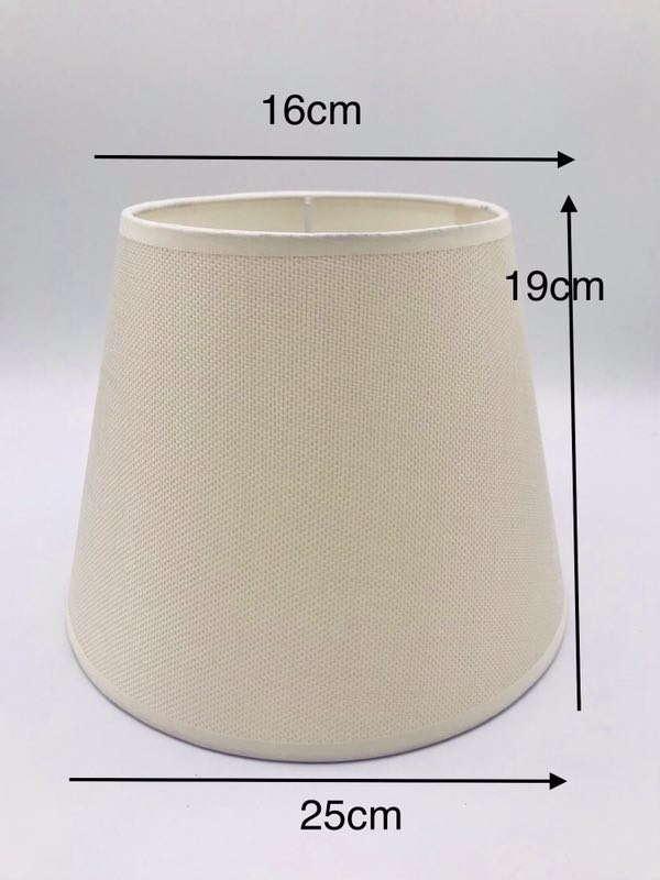 E27 Round Fabric Beige Lampshade Nordic  Lamp Shade For Table Lamp Modern Lamp Cover For Desk Lamp