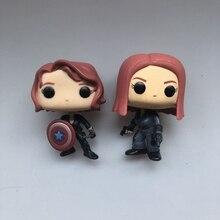 Funko pop Secondhand Marvel: Black Widow капитан щит Виниловая фигурка Коллекционная модель свободная игрушка без коробки