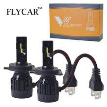 цена на FLYCAR ZES LED Car Headlight Lamp H7 H8/H11 H4 LED 12V 24V Auto Fog Light 9005/HB3 9006 HB4 Turbo LED 50W/set 6000K Headlamp