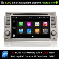 auto Android 8.0 system PX5 Octa 8 Core CPU 2G Ram 32GB Rom Car DVD Radio GPS Navigation for Hyundai Azera 2005 2011