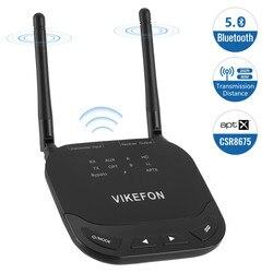 VIKEFON 80m longue portée CSR8675 3 en 1 Bluetooth 5.0 récepteur Audio émetteur dérivation prise en charge Aptx & HD & LL commutateur adaptateur sans fil