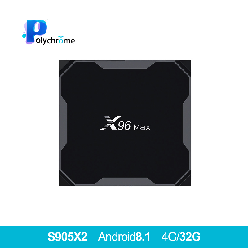 X96Max boîtier de smart tv Android 8.1 Amlogic S905X2 LPDDR4 Quad Core 4 GB 32 GB 64 GB 2.4G & 5 GHz wifi BT 1000 M 4 K Set top box X96 Max