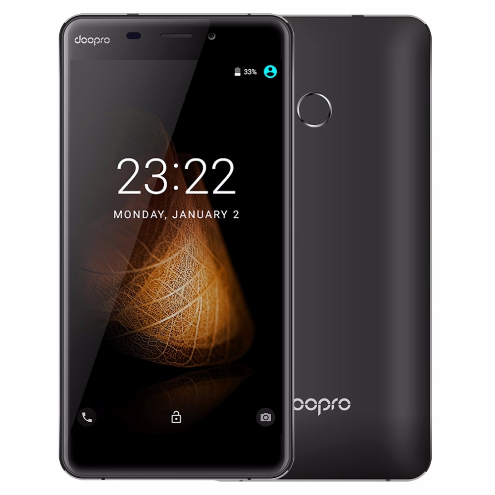 Doopro C1 Pro 4200mAh Fingerprint 8MP Camera MSM8909 Android 6.0 Mobile Phone 2GB RAM 16GB ROM 4G Quad Core Phone Smartphone FM