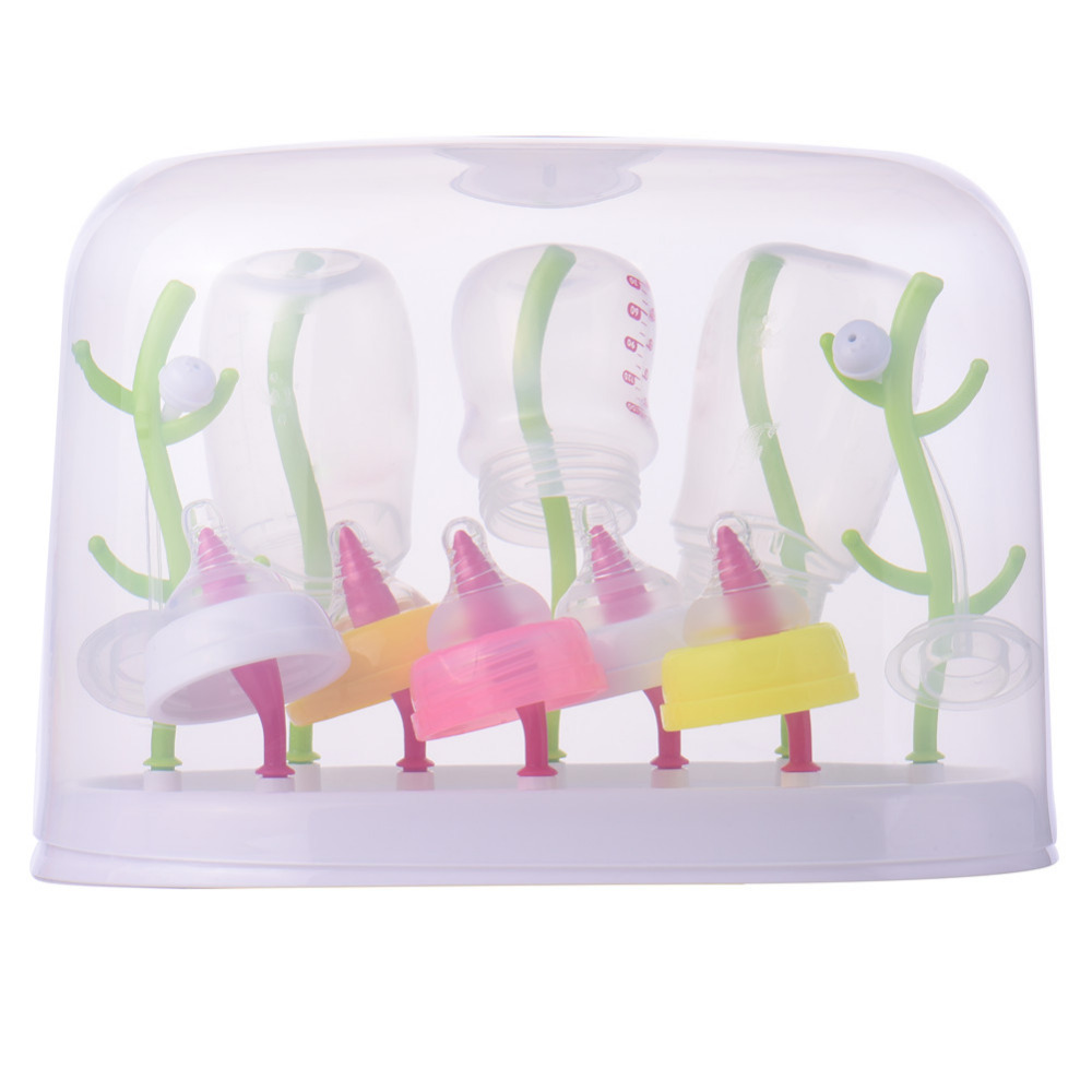 Kid Bottle Drainer Dryer Shelf Baby Bottle Drying Rack Hanging Feeding Bottle Cup Holder Infant Nipple Kitchen Drainer