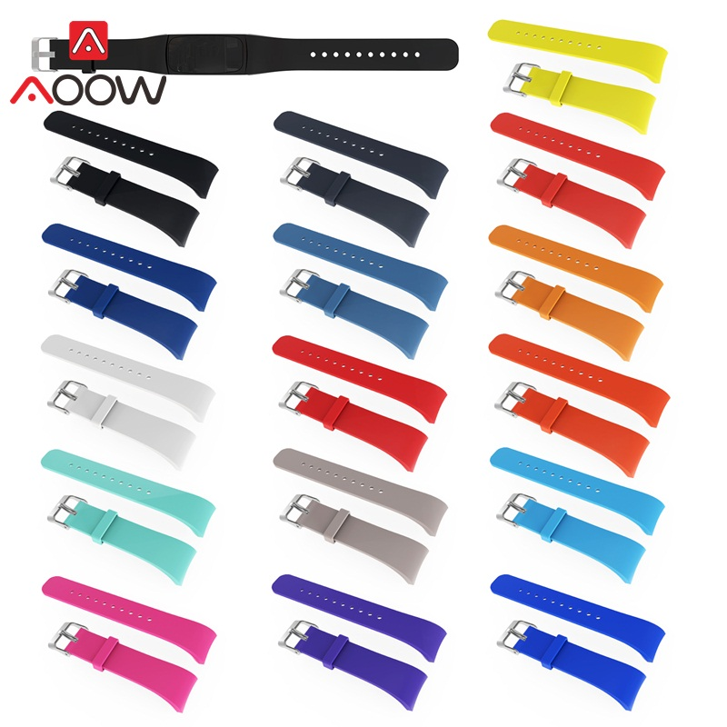 AOOW Top Quality Sport Silicone Watch Band Strap For Samsung Gear Fit 2 SM-R360 Band Replacement watchband for gear fit2 pro for gear fit2 watch band gear fit2 stainless steel bracelet strap replacement band wristband for samsung gear fit 2 sm r360