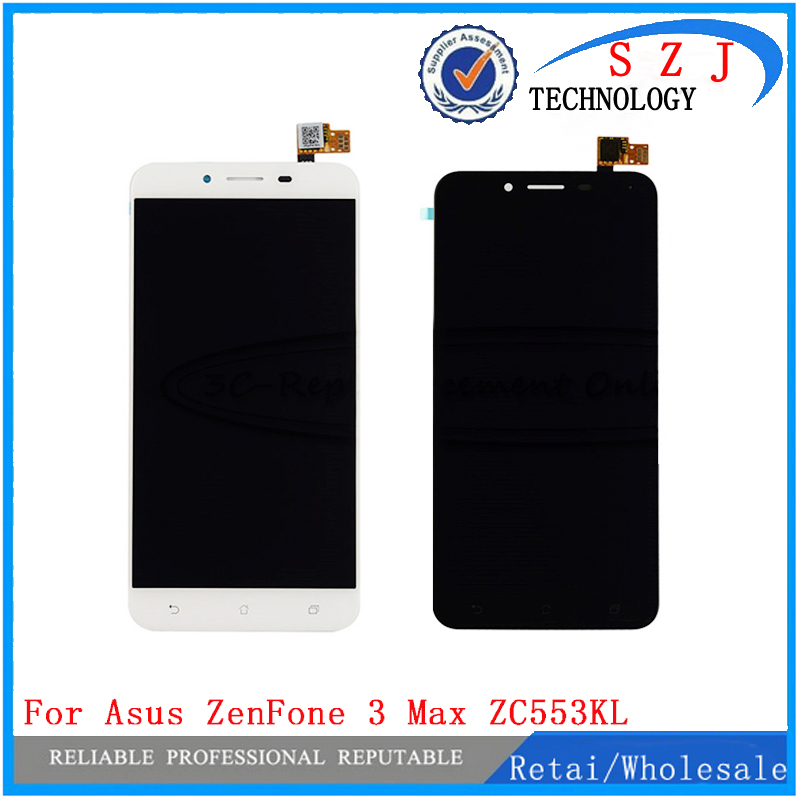 New 5.5'' inch LCD Display + Touch Screen Panel Digitizer Glass Assembly For Asus ZenFone 3 Max ZC553KL Free Shipping free shipping for asus transformer pad tf201 tcp10c93 v0 3 touch screen panel digitizer glass lcd display screen panel assembl