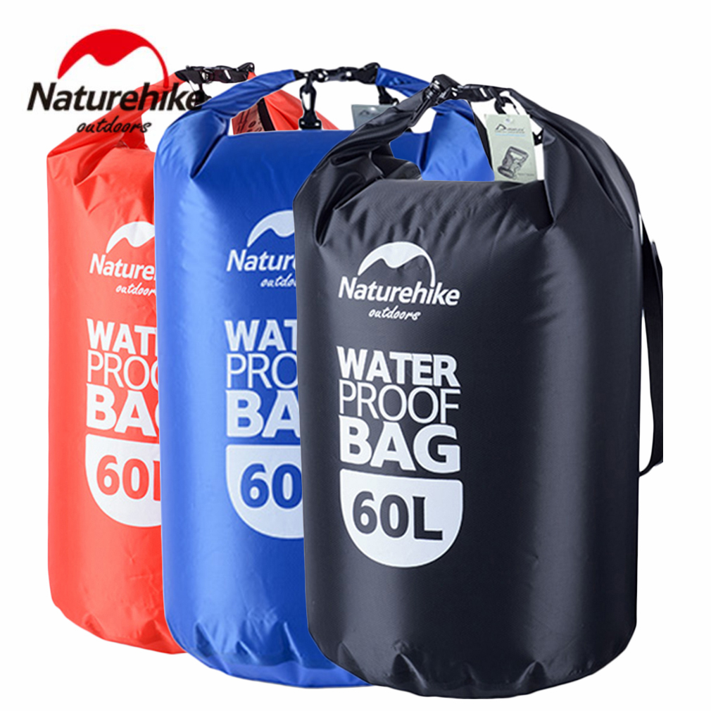 Naturehike 20L/50L/60L Outdoor Travel Multifunction Water Oil Resistant Dry Bag Waterproof Drawstring Storage Stuff Sack Dry Bag l