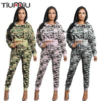 Woman Camouflage Printing Pull Rope Top+Trousers Suit Military Army Set Multicam Uniform German Sports Summer Colete Tatico