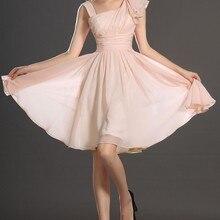Новое милое плиссированное платье на бретелях, легкий розовый шифоновый коктейльное платье