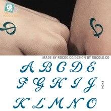 Tatto Stickers Temporary-Tattoo-Sticker Letters-Alphabet Waterproof Flash-Tatoo English