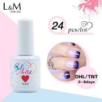 free shipping 24pcs Gelartist Brand nail Supplier china nail supplier gel polish Uv  Manicure gel nail polish