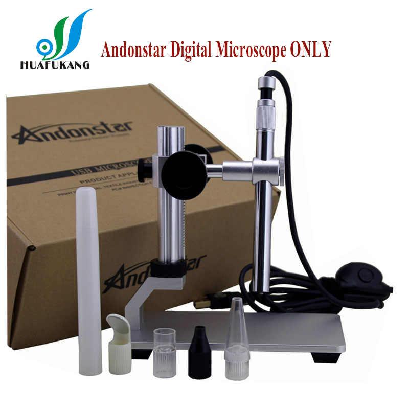 500X Andonstar 2MP Kỹ Thuật Số USB Kính Hiển Vi kiến soi tai PCB Kiểm Tra Máy Ảnh với Cánh Tay Linh Hoạt Quan Sát Đứng và WIFI Chức Năng