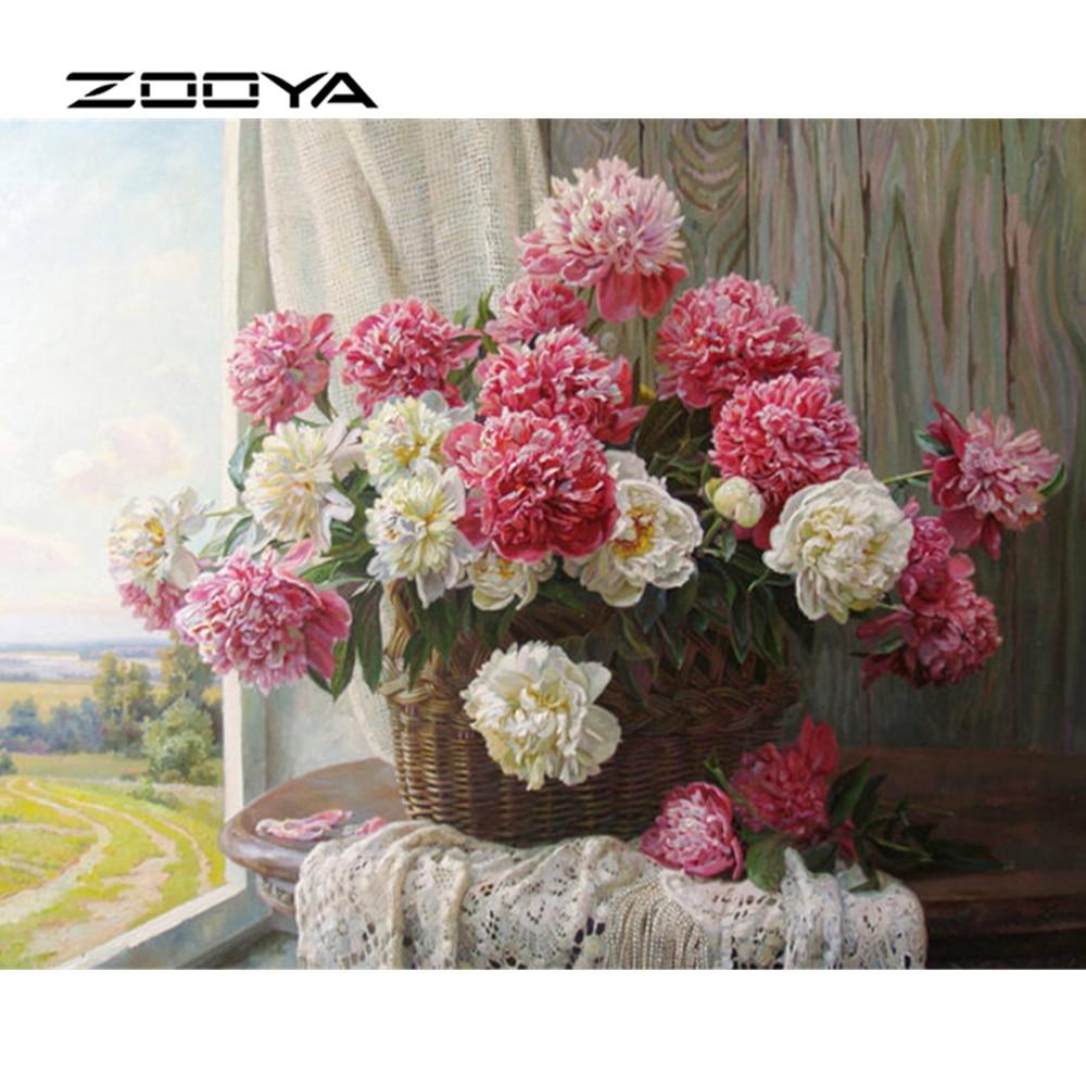ZOOYA Diamond Embroidery DIY Diamond Painting Flowers