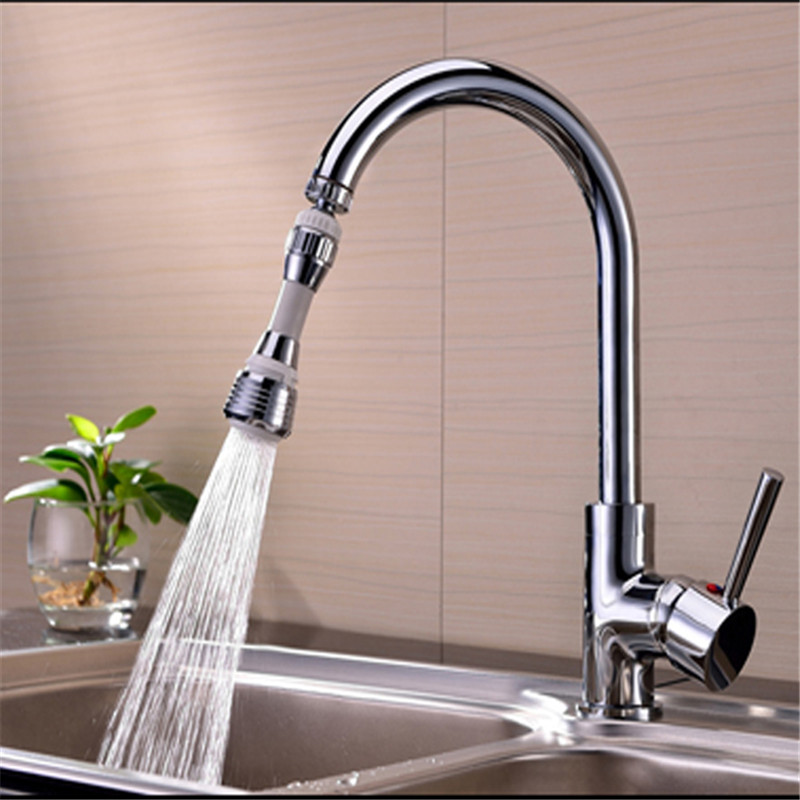 Kitchen Faucet Water Bubbler Swivel Head Adapter Water Saving Tap ...