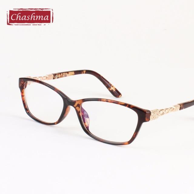 Chashma Moda Design Elegante Tortoise Óculos Quadros Mulheres Óculos de Prescrição Óculos de Armação Transparente