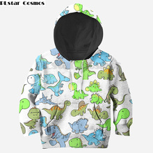 Family matching Cartoon Dinosaur Boys Sweatshirts Kids Hoodies Clothes Autumn Children Long Sleeve zipper Shirts mother daughter