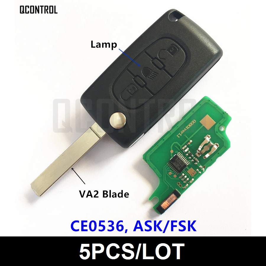 QCONTROL Vehicle Remote Key fit for PEUGEOT Partner 207 208 307 308 408 433MHz Car Lock