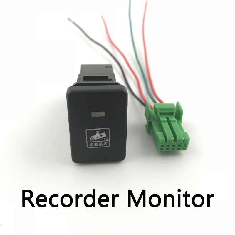 Antibrouillard LED DRL caméra enregistreur moniteur Radar Parking hayon alimentation bouton de commutation pour Mitsubishi L200 2015-2018