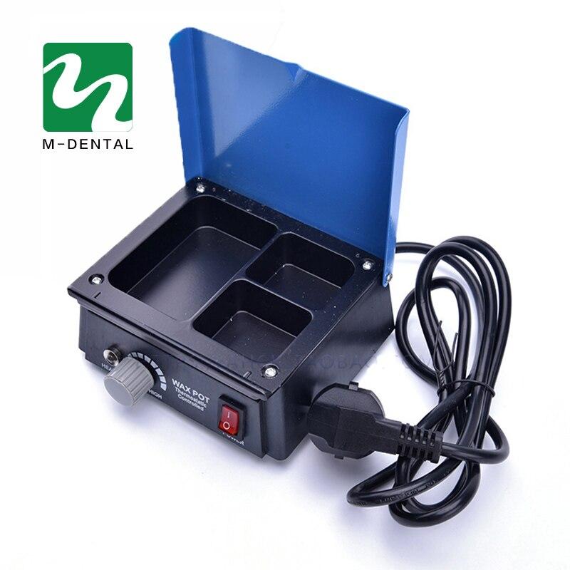 1 Piece Dental Lab Equipment Analog Wax Heater Pot 3 Tri Slot Paraffin Melter Wax Heater