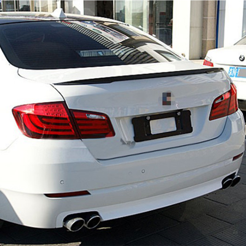Matt Carbon Fiber F10 M5 Modified Performance Style Rear Trunk Luggage Compartment Spoiler Car Wing For BMW F10 2011~2016 vw replacement genuine carbon fiber rear trunk spoiler wing back rear spoiler for volkswagen passat 2011 2015 car styling