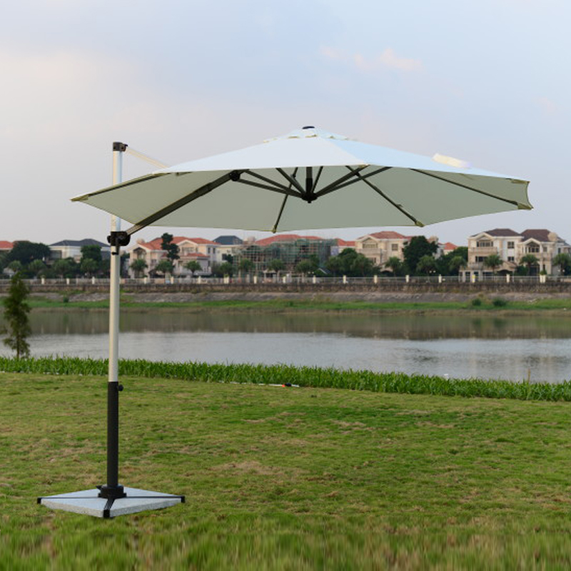 Dia 3 meter brushed aluminum outdoor sun umbrella garden parasol patio sunshade furniture covers ( no stone base ) 2 7 meter steel iron duplex outdoor beach sun umbrella patio parasol sunshade garden furniture cover no base