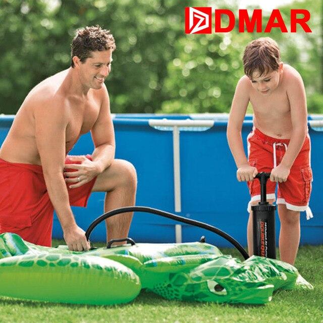 DMAR Griff Luftpumpe für Aufblasbare Flamingo Donut Einhorn Pool Float Matratze Schwimmen Ring Schwimmen Kreis Boot Schwan Spielzeug