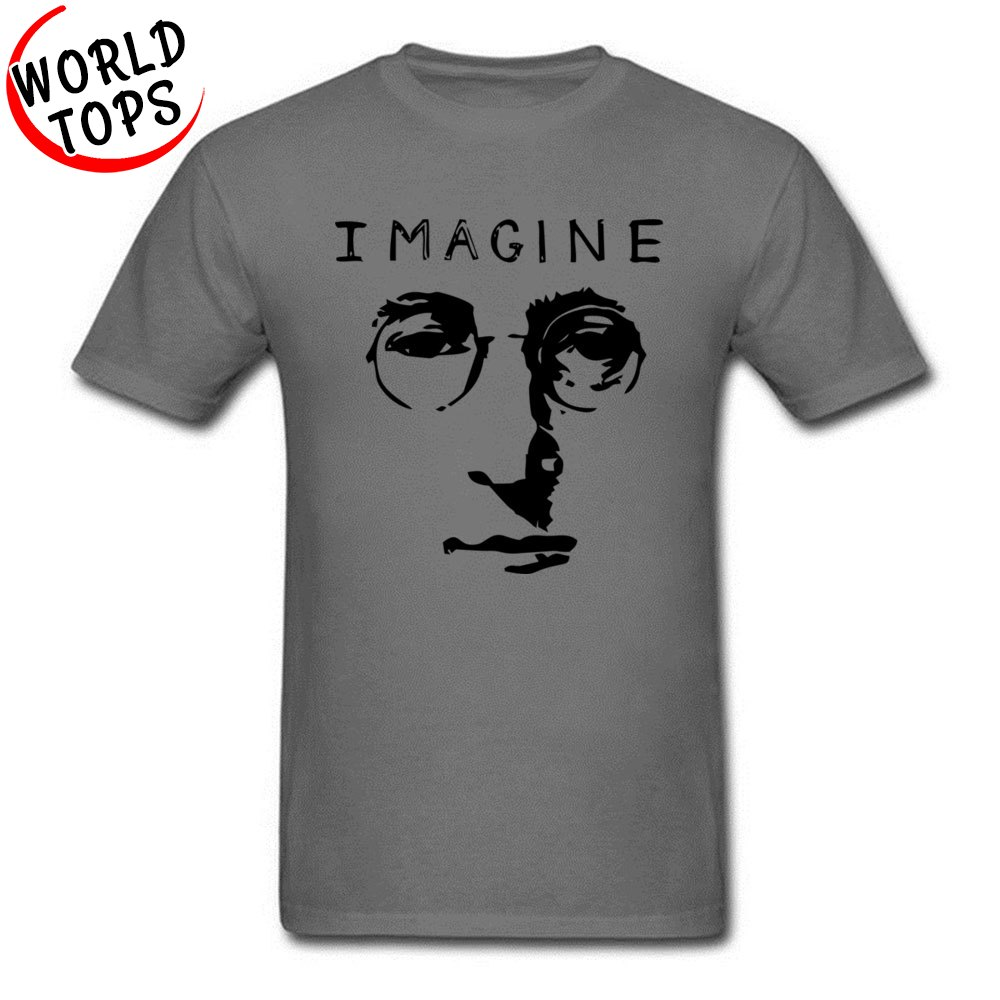 T Shirt John Lennon Imagine NEW YEAR DAY Slim Fit Casual Short Sleeve 100% Cotton Fabric Round Neck Men Tshirts Casual Tee Shirt John Lennon Imagine carbon