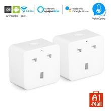 ФОТО wifi smart uk plug wireless mini smart switch timer switch socket work for amazon alexa echo google home and ifttt voice control