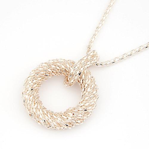 Fashion Kalung Panjang untuk Wanita Big Circle Emas / Perak Warna - Perhiasan fashion - Foto 4
