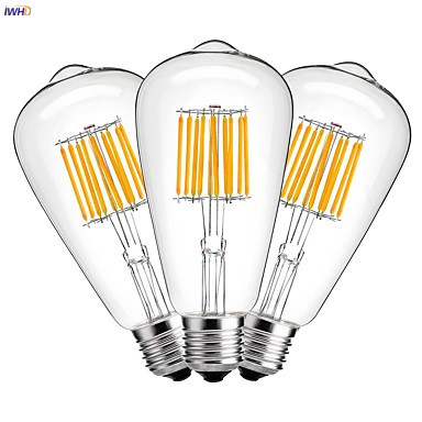 IWHD ST64 LED Filament Edison Bulb Lamp E27 220V Industrial Decor Vintage Retro Lamp Light Bulb Ampoule Bombillas Gloeilamp