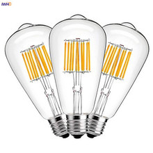IWHD ST64 LED Filament Edison Bulb Lamp E27 220V Industrial Decor Vintage Retro Light Ampoule Bombillas Gloeilamp