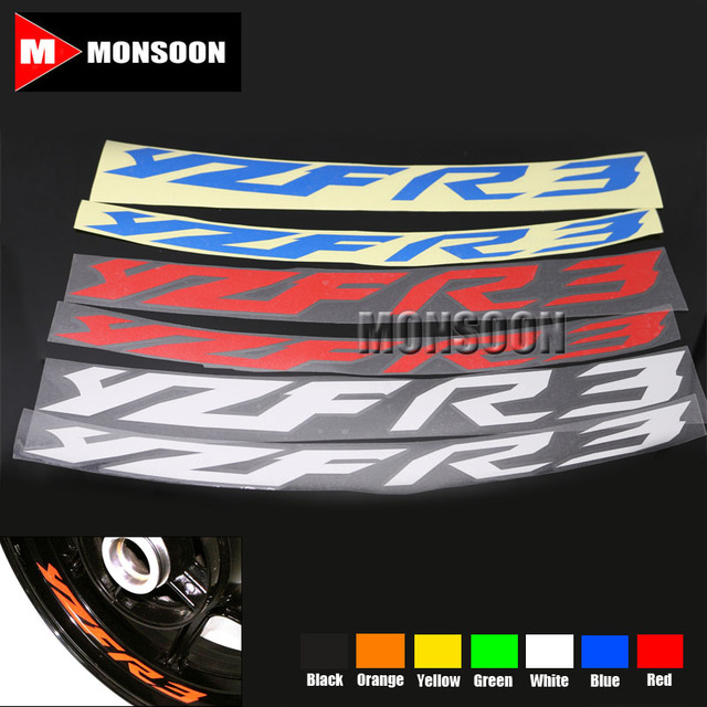 For YAMAHA YZF R YZF R YZFR Motorcycle Front Rear CUSTOM - Motorcycle bumper custom stickers
