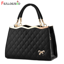 Купить с кэшбэком FGJLLOGJGSO New Fashion Shoulder bag Europe Bowknot Bag Women Handbag Lady PU Leather Handbags Female Tote Luxury Crossbody Bags