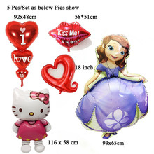5Pcs/Lot balon wholesale balloons engagement anniversary princess valentines wedding party decoration