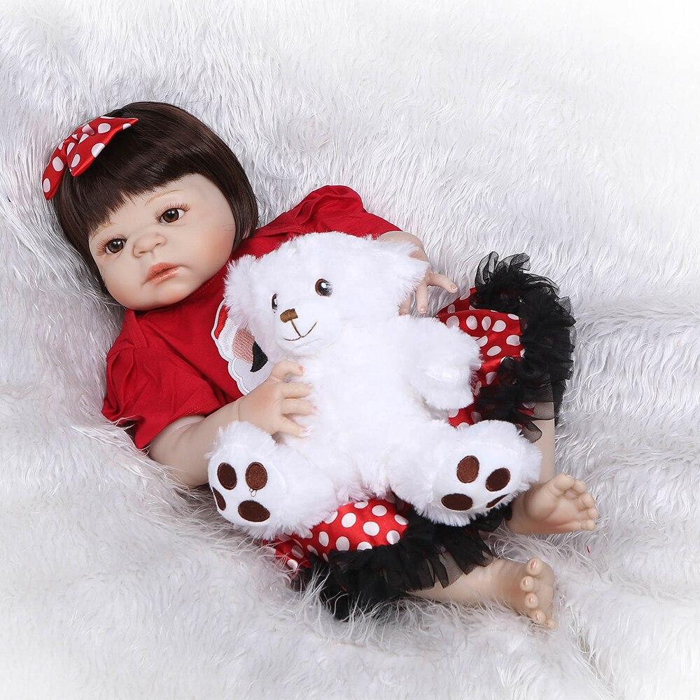 Bebes reborn 23 pouces fait à la main bébé fille poupées Reborn Silicone vinyle nouveau-né bébés princesse réaliste jouet enfants cadeau d'anniversaire