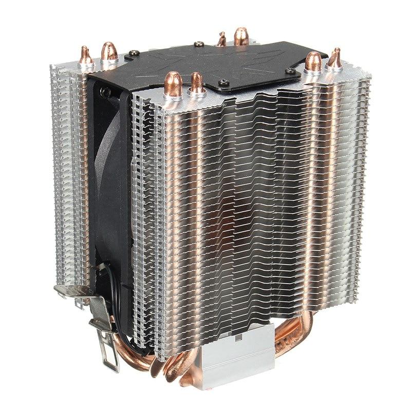 3Pin 4 Heatpipe Radiator Quiet CPU Cooler Heatsink for Intel for LGA1150 1151 1155 775 1156 Fan Cooling for Desktops Computer cpu heatsink 775 115x cpu fan amd4 heatpipe intelligent 4led fan