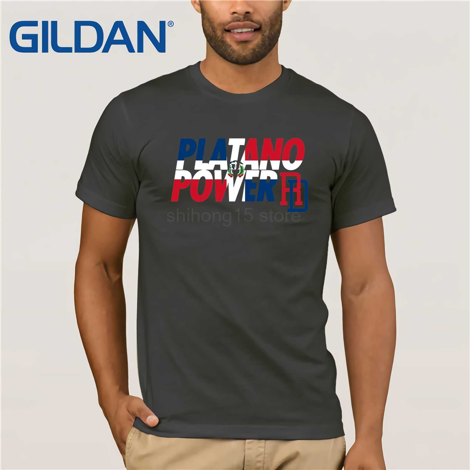 4bd06d15 ... Mens DOMINICAN REPUBLIC BASEBALL TEAM SUPPORT SHIRT PLATANO POWER XL  Black Design Style New Fashion Short ...
