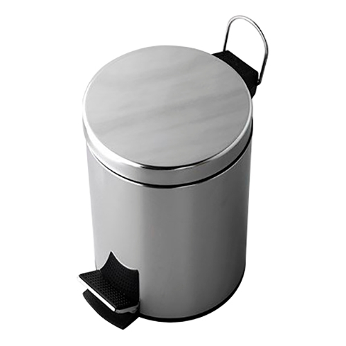 Bucket garbage pedal Wasserkraft K-635 (Хромоникелевое coating, stainless steel, ABS plastic) garbage garbage strange little birds