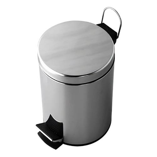 Bucket garbage pedal Wasserkraft K-635 (Хромоникелевое coating, stainless steel, ABS plastic) garbage can with pedal wasserkraft k 612