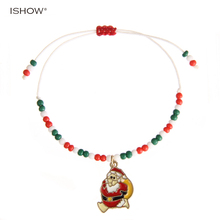 Charm Christmas Rope Chain Bracelet For Women Fashion jewelry christmas gift for girls  pendant bracelet pulseiras mujer