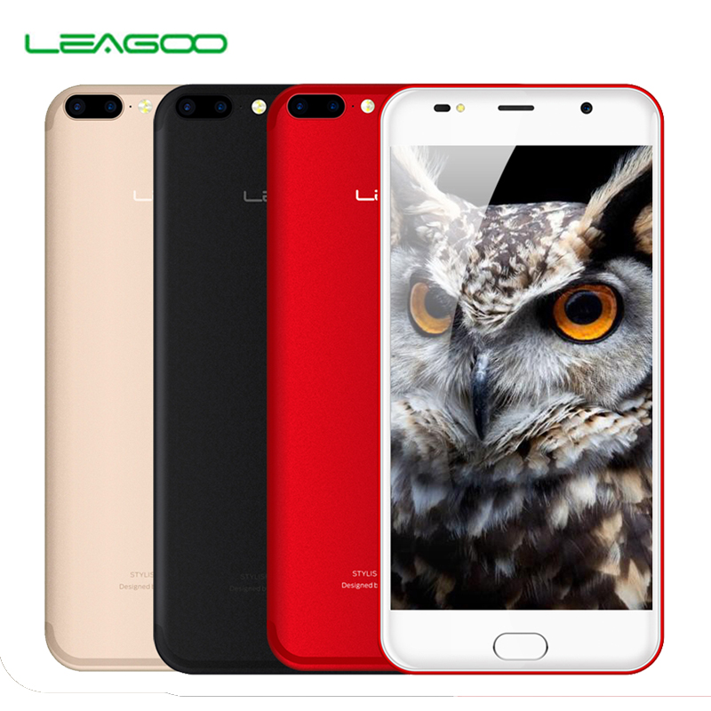 Leagoo M7 Smartphone 5.5 Inch HD MT6580 Quad Core Cell phones 1GB+16GB 3000mah 8MP Dual Back Cameras Android 7.0 3G Mobile Phone